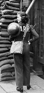A female Air Raid Warden