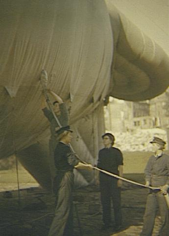 WAAF on a barrage balloon site in London