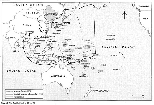 Pacific theatre of war