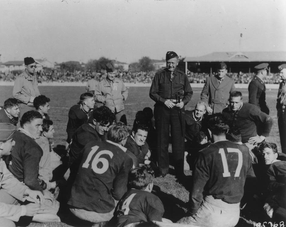 US Marines vs New Zealand Army rugby match, 1943