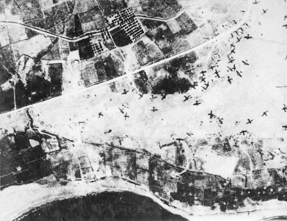 Damaged aircraft at Maleme airfield