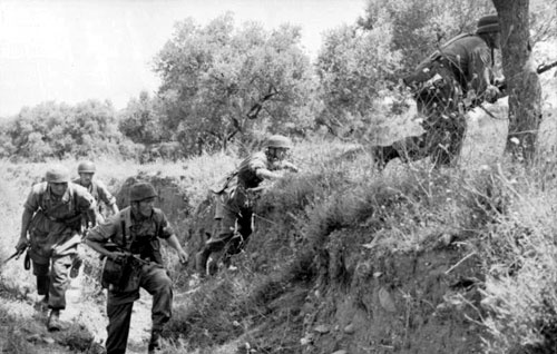 German paratroops on the move