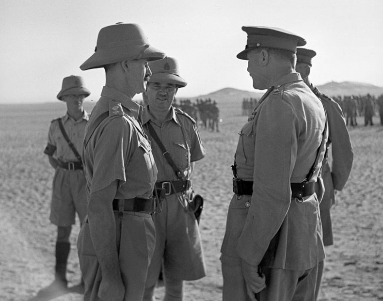 Andrews, Hargest and Freyberg in Egypt