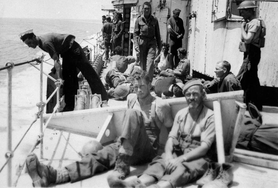 New Zealand soldiers en route to Egypt